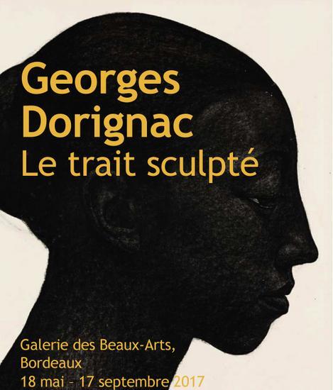 Affiche de l'Exposition Georges Dorignac - Le trait sculpté