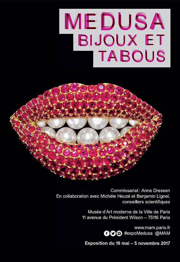 Affiche de l'exposition Médusa, Bijoux et Taboux