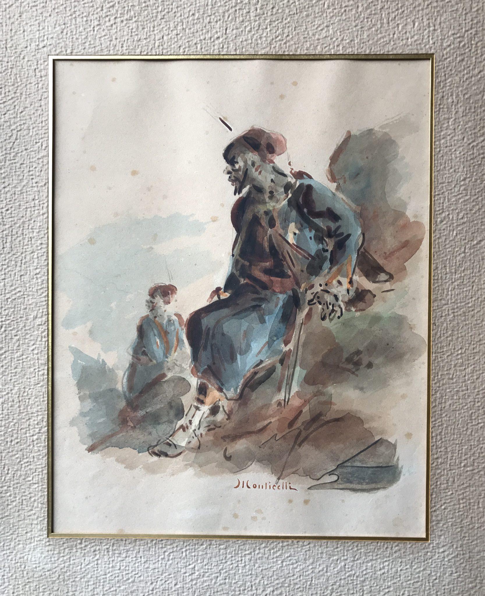 Adolphe MONTICELLI – Aquarelle orientaliste