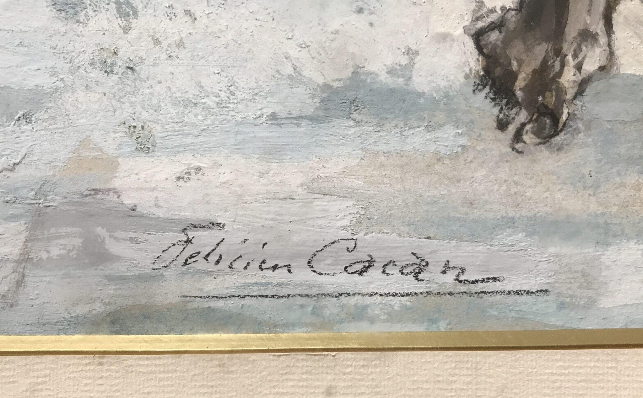 Félicien CACAN - Gouache sur papier
