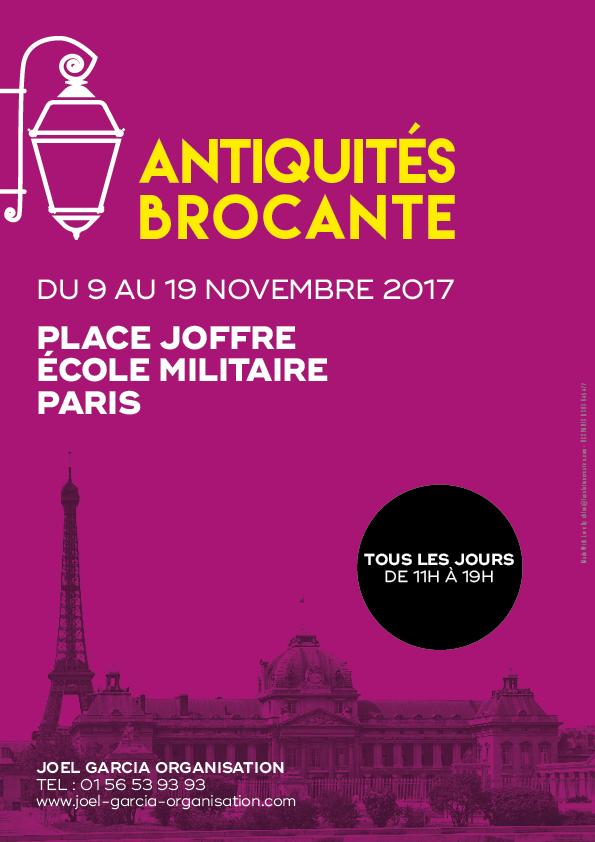 Affiche Foire Antiquités Place Joffre Novembre 2017