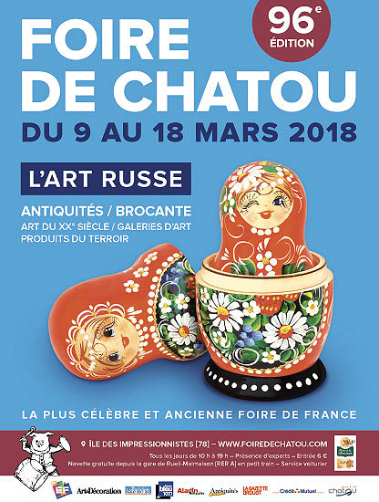 Affiche Foire antiquités Chatou 2018