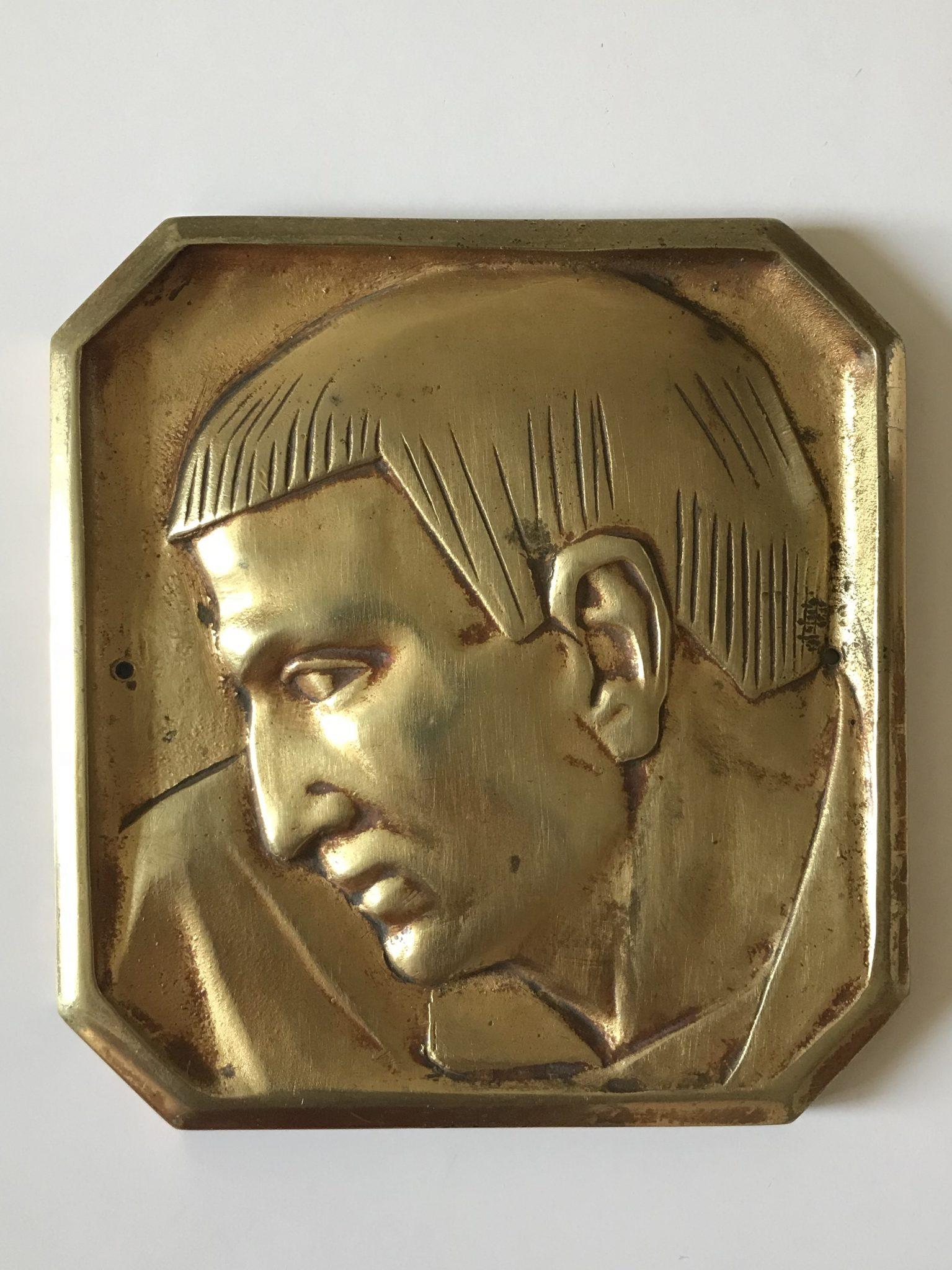 Bas relief Art Déco en bronze doré