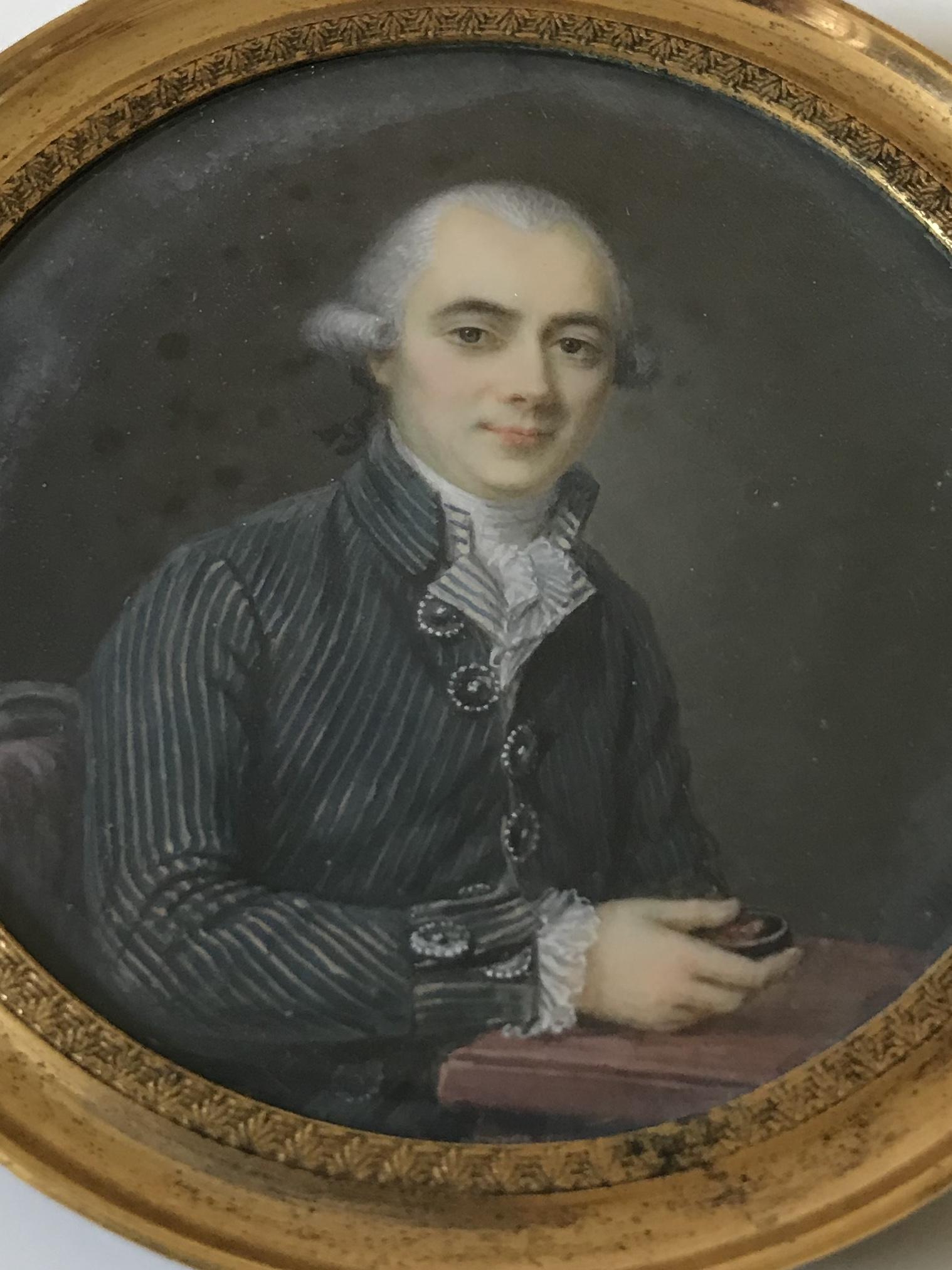 Miniature XVIIIème portrait d'homme