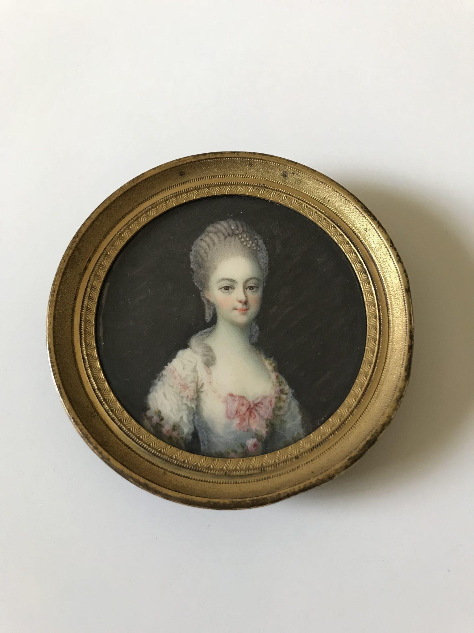 Miniature XVIIIème portrait de femme