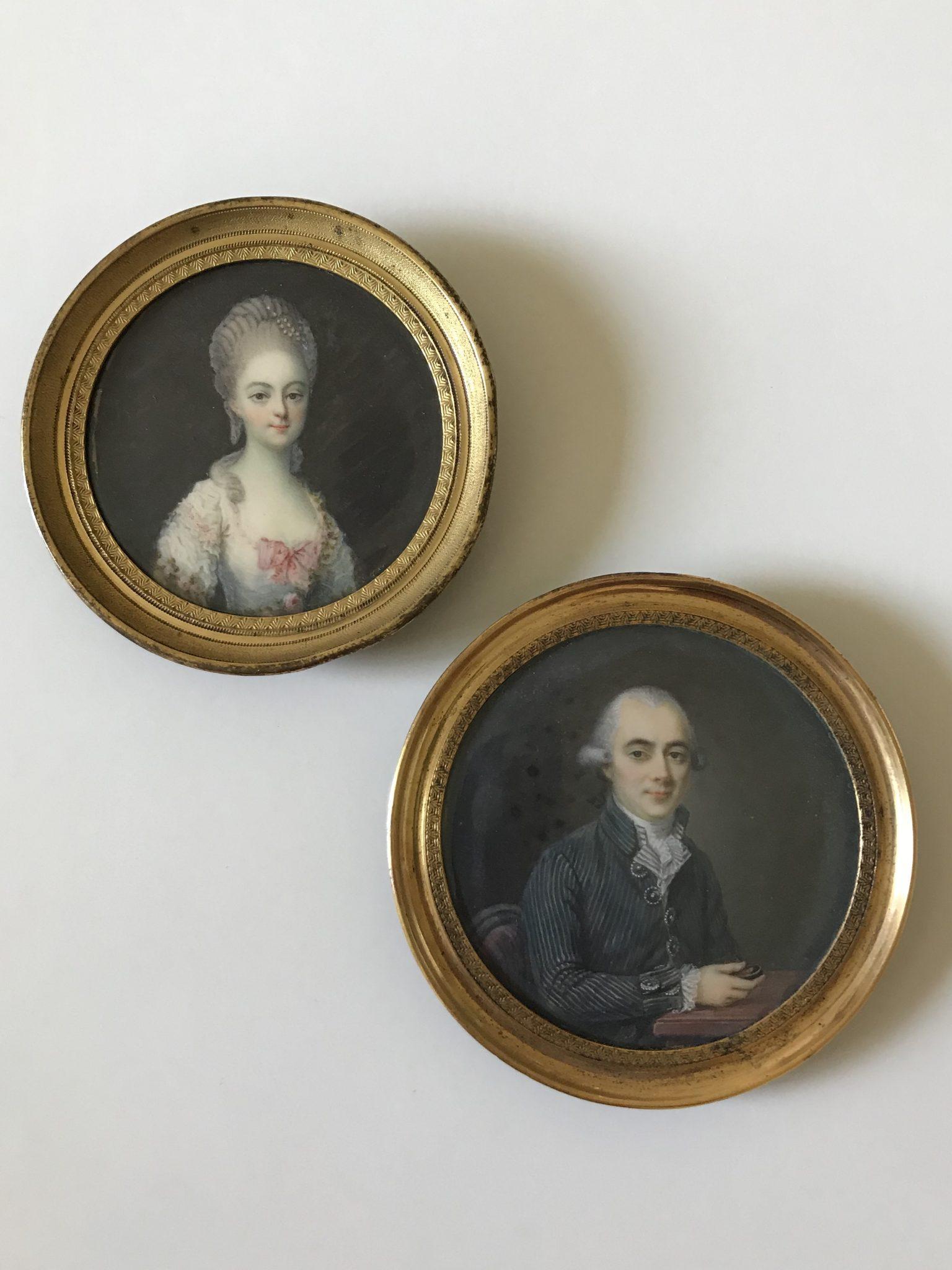 Deux miniatures XVIIIème