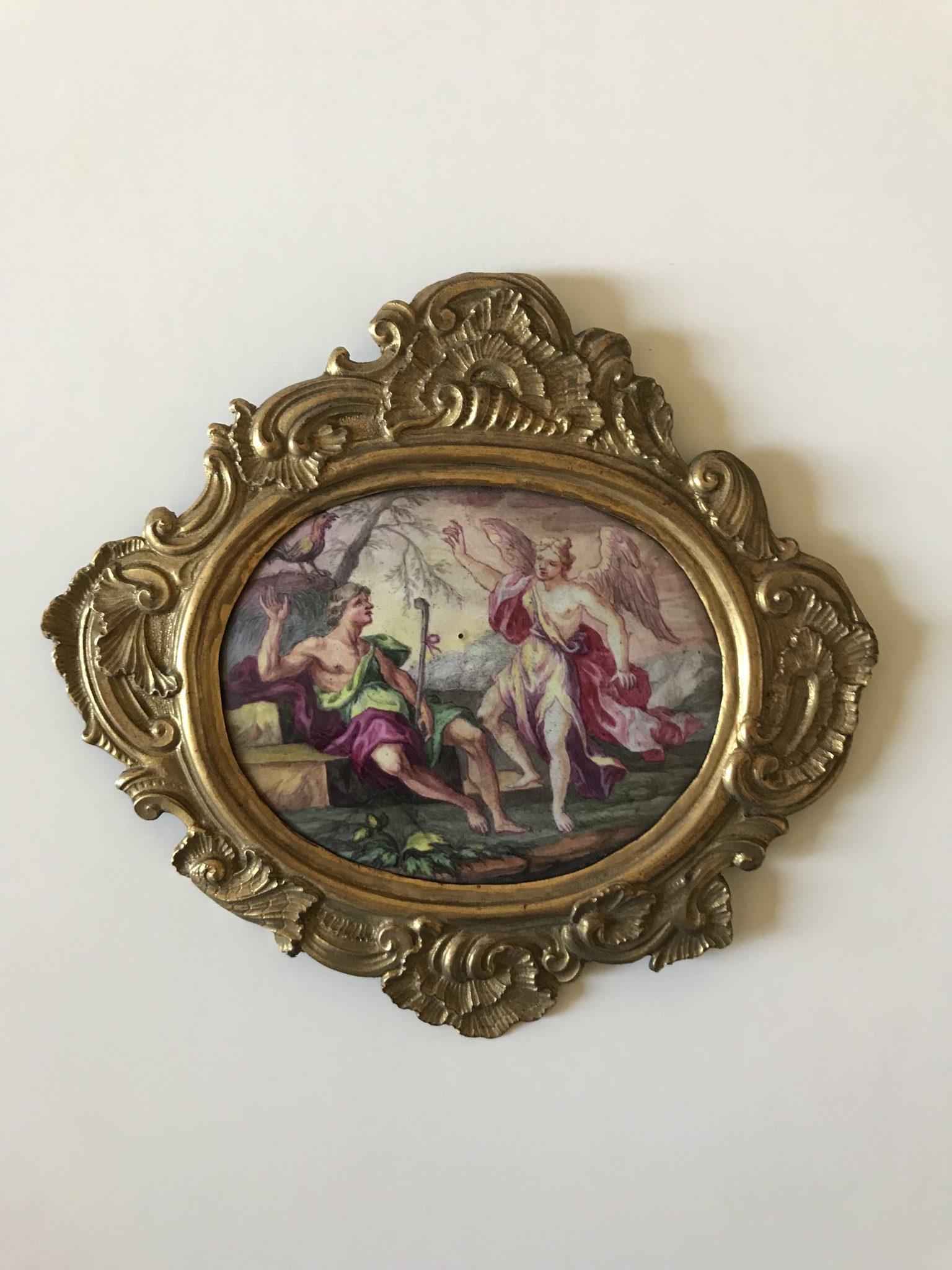 Plaque émaillée XVIIIème