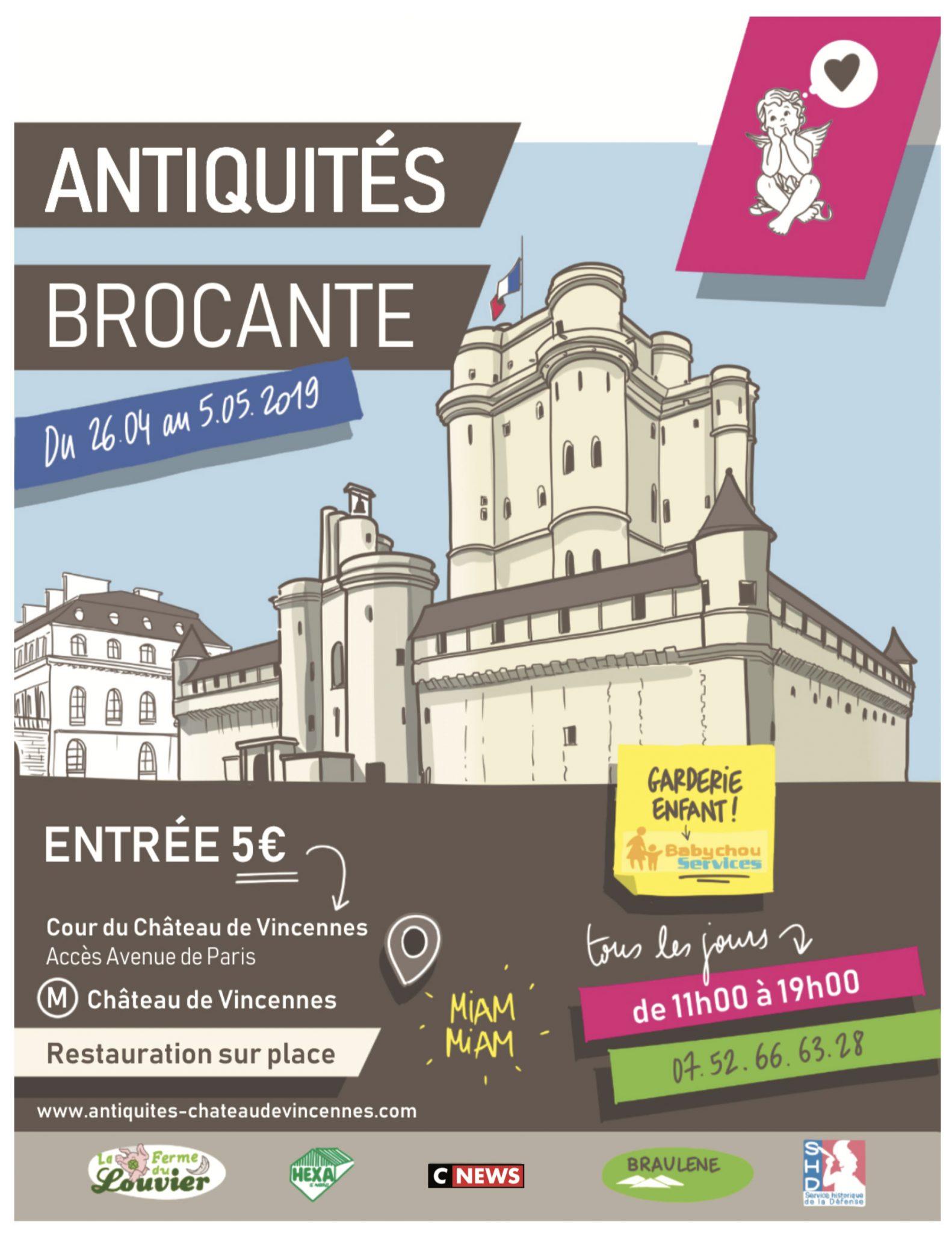 Affiche Antiquités Brocante Vincennes 2019