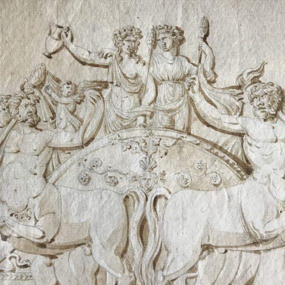 Dessin néoclassique XIXème